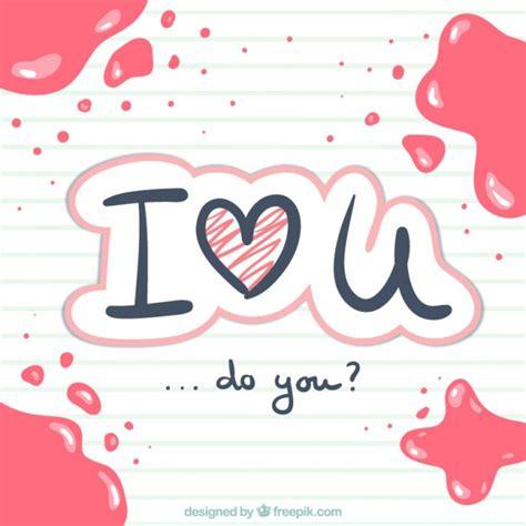 imagenes love escrito te amo escrito a mano descargar vectores gratis