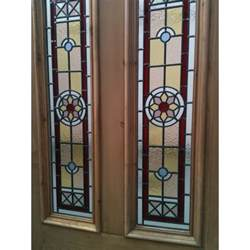 Stain Glass Door Sd042 Edwardian Original Stained Glass Exterior Door The Edwardian In