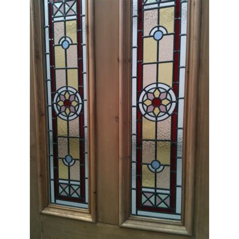 edwardian stained glass front door sd042 edwardian original stained glass