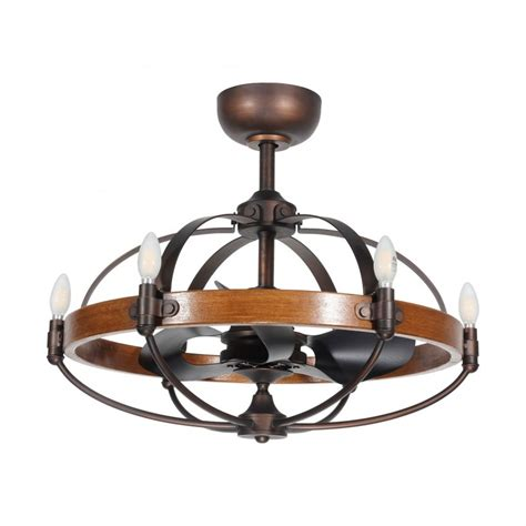 rustic wood ceiling fans rustic wood caged ceiling fan 6 lights 3 reversible blades