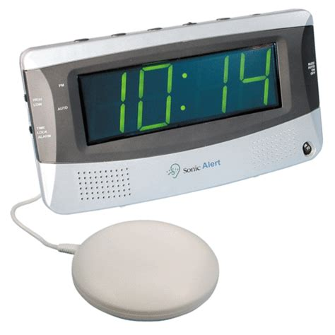 sonic boom sbd375ss dual alarm clock with vibrating pad connevans