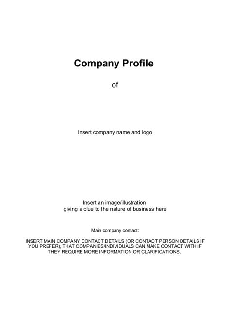 company profile template for small business business company profile templatedocdoc765