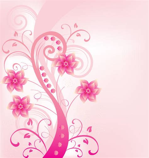 pink designs abstract pink floral background design illustrator free
