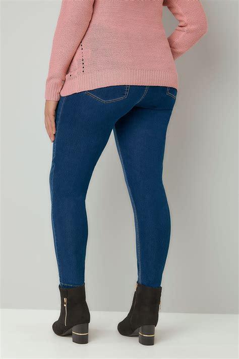 Basic Jegging Light Blue blue washed ultimate comfort stretch jeggings plus size