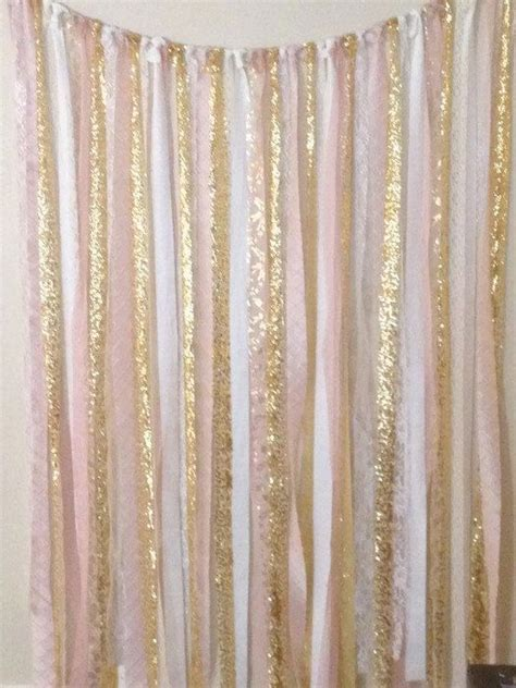 gold streamer curtain 25 best ideas about pink gold party on pinterest pink