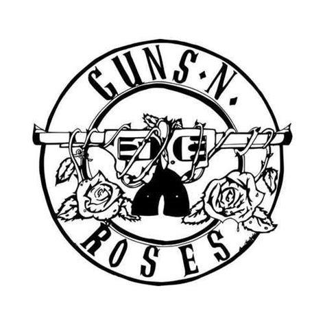Guns N Roses Logo 2 guns n roses rock band logo vinyl decal sticker