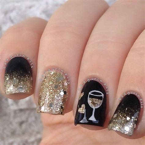new year pedicure design 100 and easy glitter nail designs ideas to rock this