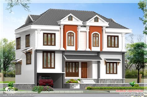 design plan 2172 sq villa 3d view and floor plan home design plans