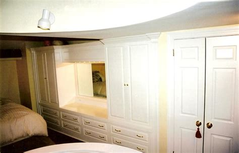 classic white wardrobe with dressing table and mirror
