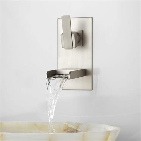 bathtub wall faucet home decor alluring waterfall faucet delta wall mount