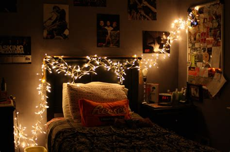 Pretty Bedroom Lights Asking Alexandria Beautiful Bed Bed Room Bedroom Image 340444 On Favim