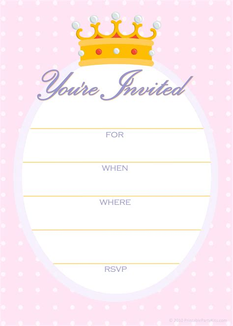 free printable party invitations april 2010