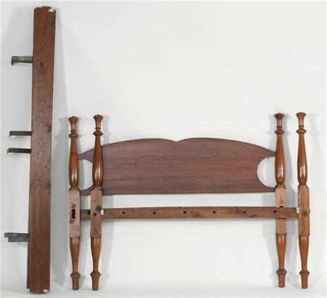 antique american bed in cherry with pine headboard t