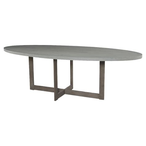 ronan industrial grey lava rock oval outdoor dining table
