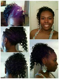 black hairstyles ridges a cute updo a goddess braid pined into a roll with ridges