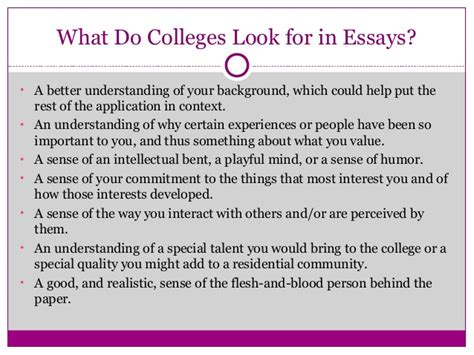 College Application Essay About Influential Person Writing Great College Application Essays That Pop