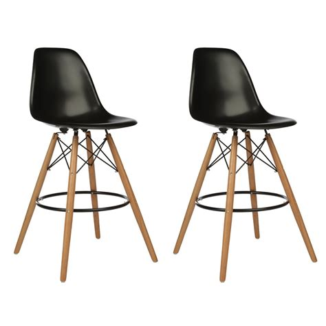 26 Inch Wood Counter Stools by Set Of 2 Eames Style Dsw Black Plastic 26 Inch Counter