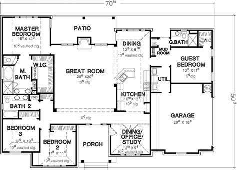 4 bedroom single story house plans home