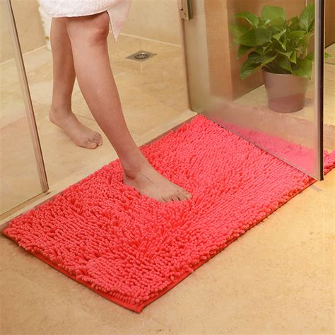 Washable Non Slip Rugs by Washable Soft Shaggy Non Slip Absorbent Bath Mat Bathroom