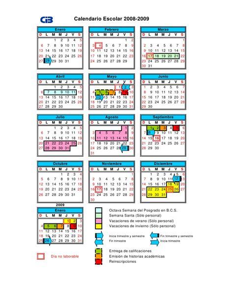 Calendario Enero 2008 Calendario Escolar 2008 2009