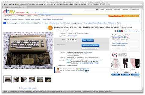 Ebay Sell Outs by Commodore 64 Gold Edition On Ebay De Sold Out 5 900