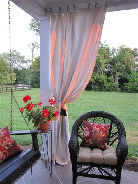 Curtains On Patio Drop Cloth Curtains For My Patio Beneath My
