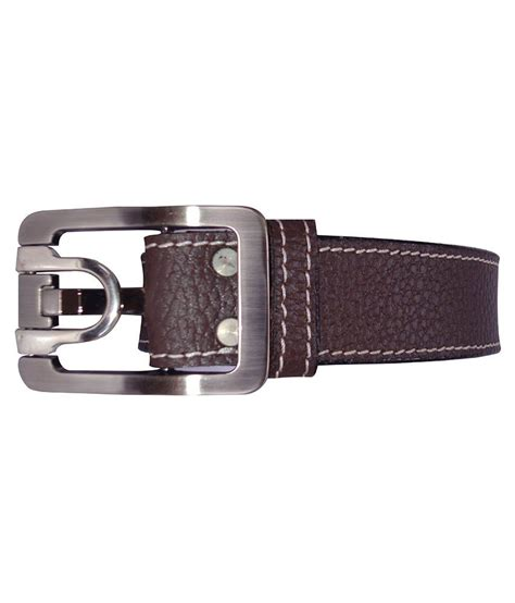 revo brown leather casual belt for buy at low
