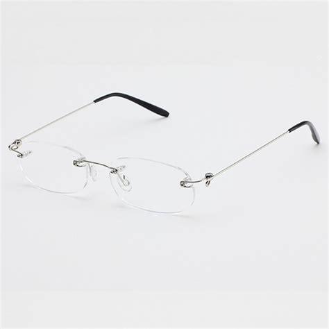 new lightweight rimless reading glasses unisex eyeglasses