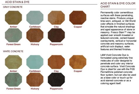 %name Concrete Stain Color Chart   Color Chart