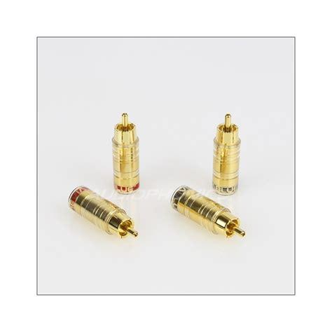 Rca Gold Set 436 viablue ts rca gold plated 216 8mm set x4 audiophonics