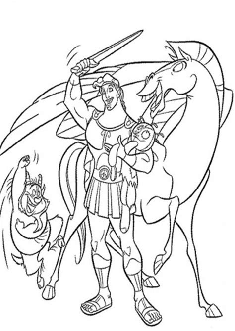 disney hercules coloring pages coloring home