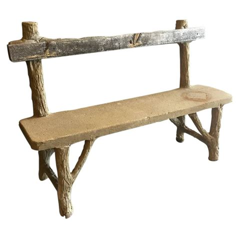 cement bench for sale concrete folk art bench for sale at 1stdibs