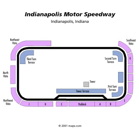indianapolis motor speedway seating chart allstate 400 at the brickyard july 25 tickets