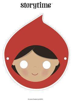 printable masks for little red riding hood little red riding hood role play masks from sparklebox