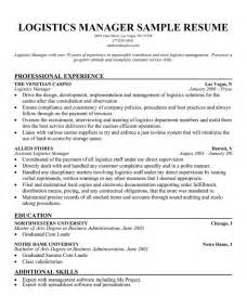 Logistics Management Sle Resume by Warehouse Manager Resumes Best Business Template