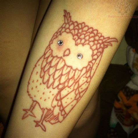 diamond eyes owl tattoo