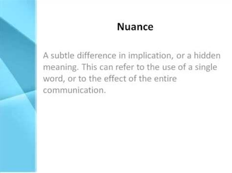 Definition Of A by Nuance Definition What Does Nuance