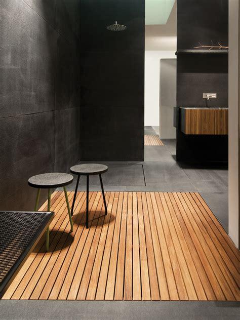 slatted teak modern bathroom flooring ideas teak shower tray by moab 80 design gabriella ciaschi