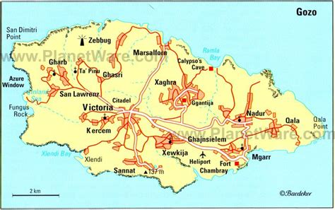 printable map ta 12 top rated tourist attractions on the island of gozo
