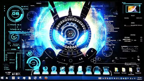 themes pictures com futuristic hologram theme on windows 8 laptop youtube