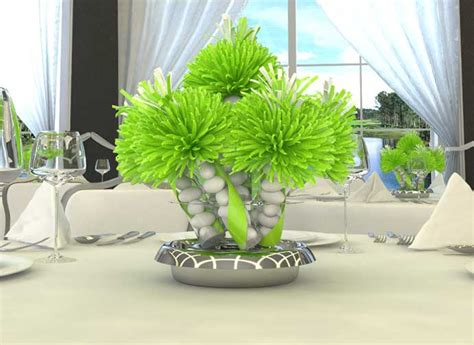 Wanderfuls Graduation Centerpieces Lime Green Centerpieces