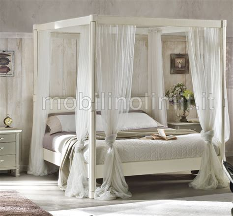 Letto Matrimoniale Shabby Chic by Letto Matrimoniale A Baldacchino Shabby Chic