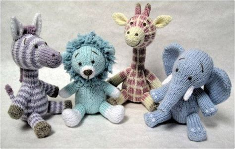 knitting patterns toys animals not so animals knitted toys set of 4 by