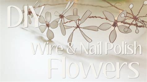 flowers  jewelry wire nail polish diy