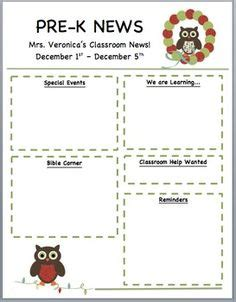 Free Owl Newsletter Template From Teachers Pay Teachers Classroom Pinterest Owl Newsletter Ffa Newsletter Templates