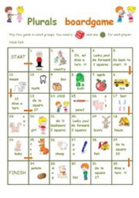 free printable noun board games english teaching worksheets plural of nouns