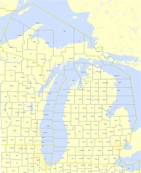 michigan county map maps michigan county map