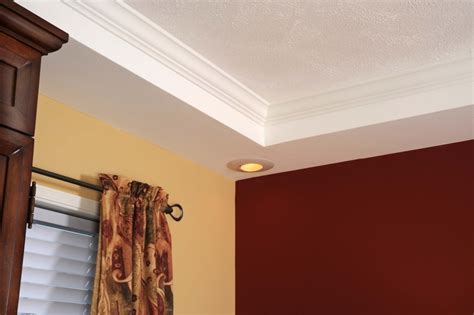 Tray Ceiling with Cove Moulding in Master Bedroom   Colony