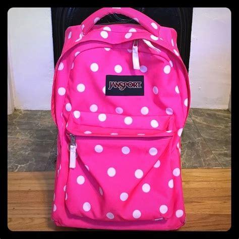 Tas Jansport Mini Ponny Pink leather laptop backpacks for backpacks