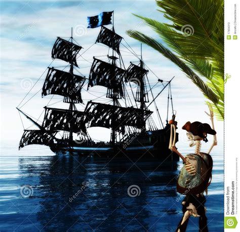il pirata ci attende foto nave di scheletro fantasma e pirata fotografie